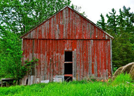 red old barn photo New England expedition yields bountiful harvest