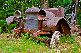 rusted old ford truck New England expedition yields bountiful harvest