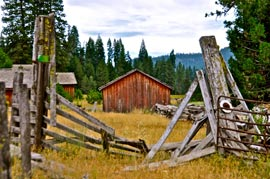 old barn photograph field Lassoing Photo Ops in Lassen County