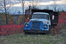 international harvester old truck photo Missed Peak Fall Color, Though Trip East Anything But Drab