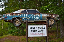 rural americana car sign Solo expedition in Dixie proves rich in memories, keeper images